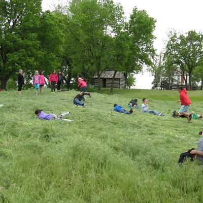 Have you ever rolled down a hill? Kids do - at Pioneer Bluffs!