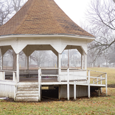 Historic 110 year old Bandstand in Eskridge City Park