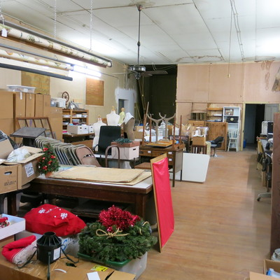 Not so glamorous. Space we would like to restore for display & artifact storage.
