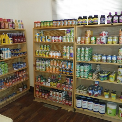 Inside our Canned Goods room!